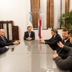 Georeferencia: Bahl recibió a organizadores de Jornadas de Capacitación Regional