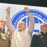 La CGT volvió a unificarse bajo un triunvirato, pese a la oposición de dos corrientes