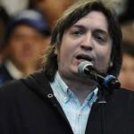 """Máximo Kirchner: """"Este modelo económico es vacío y frío como la mirada del presidente"""""""