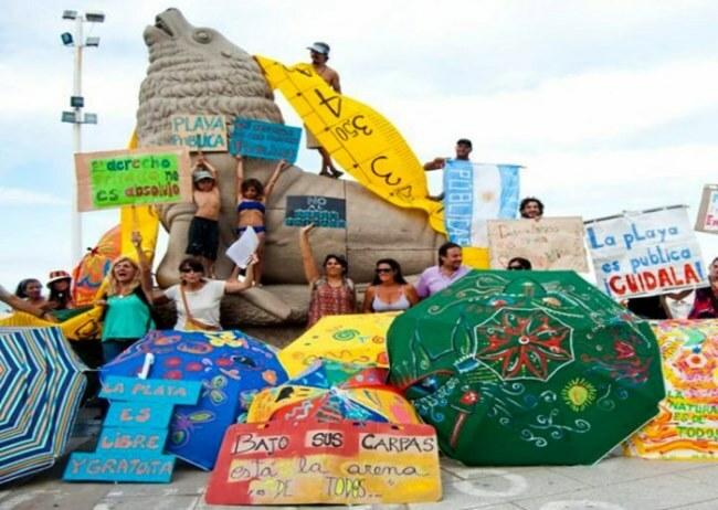Masivo reclamo por más playa pública en Mdq
