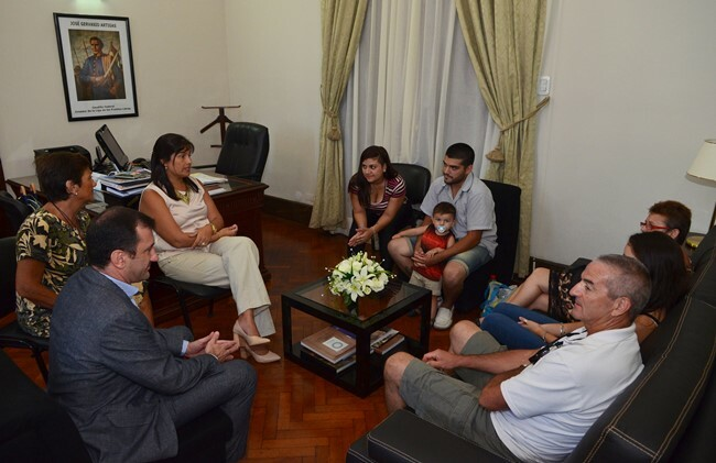 La familia de Rodrigo Segovia agradeció el acompañamiento de Bordet y su equipo de gobierno