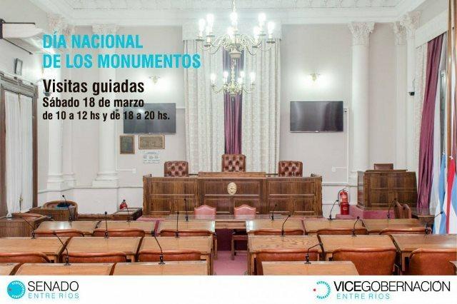 La Cámara de Senadores también abre sus puertas para celebrar el Día Nacional de los Monumentos