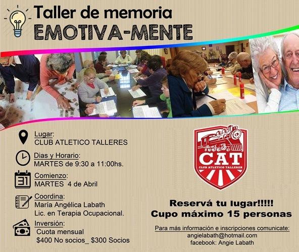 Taller de memoria para adultos mayores en el CAT
