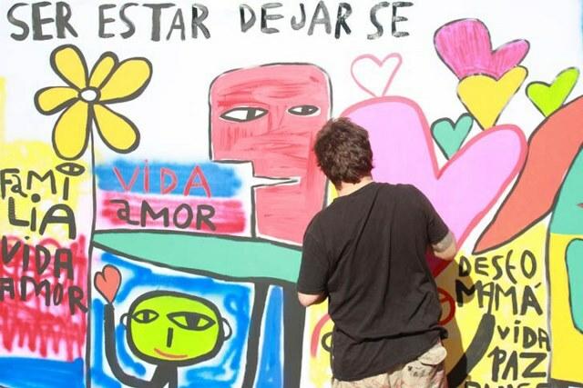Milo Lockett pintará un mural en el Hospital San Roque