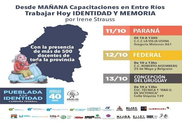 Más de 500 docentes se capacitarán en la Pueblada x la Identidad