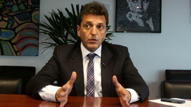 """Sergio Massa: """"Se debe corregir el rumbo sin usar el chantaje del pasado"""""""