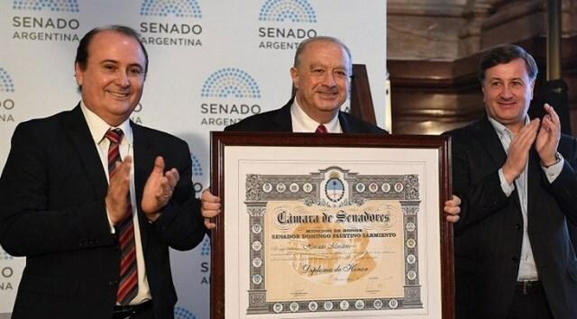 Horacio Muratore fue homenajeado por el Senado de la Nación