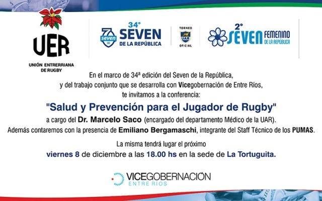"""""""Salud y Prevención para el jugador de rugby"""": valiosa charla impulsada por la Vicegobernación"""