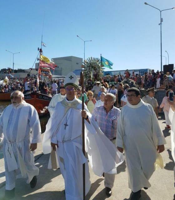 Los tripulantes del ARA San Juan fueron recordados en la fiesta de los Pescadores