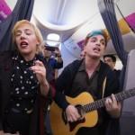 Miranda sorprendió a los pasajeros de un vuelo de Aerolíneas Argentinas