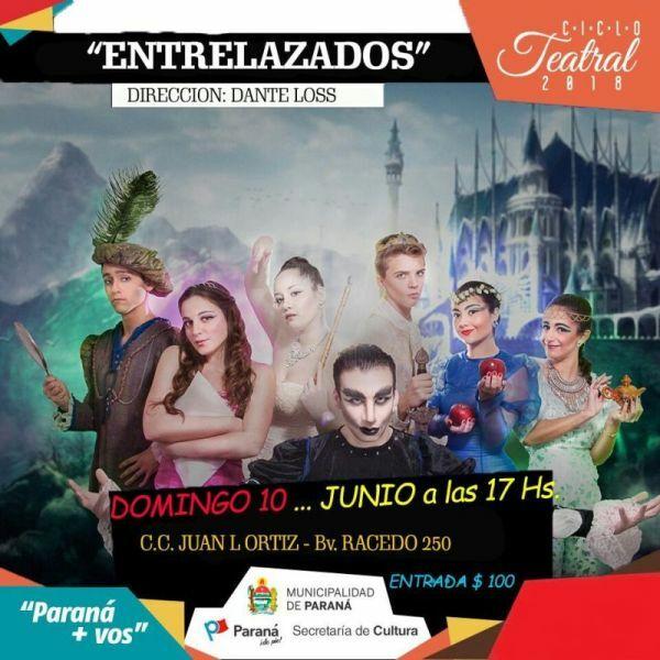 Sumar Teatro Paraná presenta la obra Entrelazados